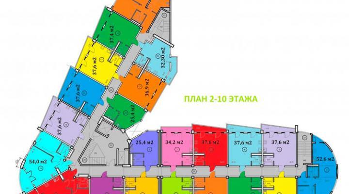 Номер в апартотеле бизнес-класса floorplan 1