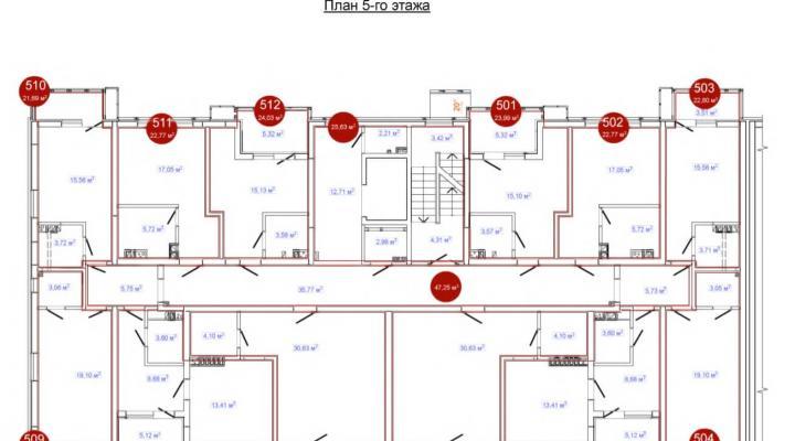 Апартаменты комфорт класса в Адлере floorplan 2