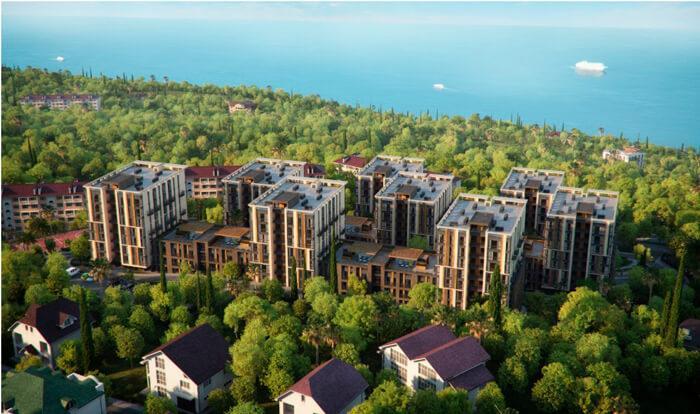Двухкомнатные апартаменты в новостройке с балконом и видом на море - image MoraviaPlanSea on https://bizneskvartal.ru
