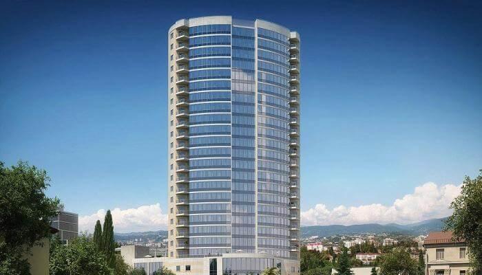 Стоимость в 172 млн рублей была присвоена частично построенной многоэтажке в Сочи